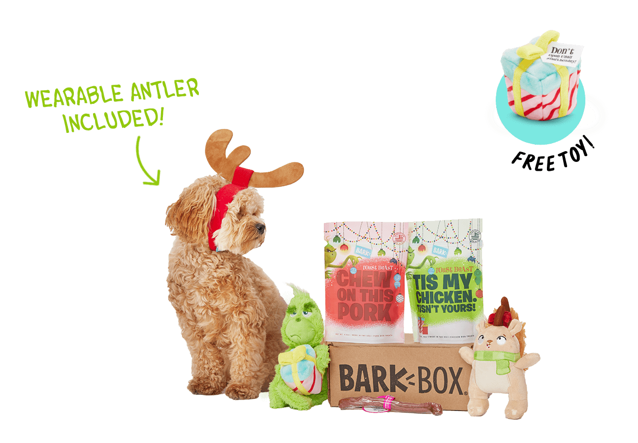limited edition grinch themed barkbox